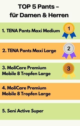 Top 5 Pants für Männer und Frauen