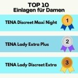 Sieger Top 10 Einlagen für Damen
