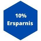10 % Ersparnis
