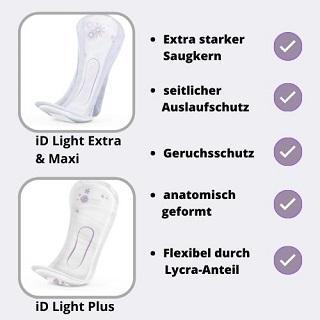 iD Light Einlagen für Frauen Vorteile